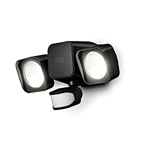Ring Smart Lighting – Floodlight, Battery-Powered, Outdoor Motion-Sensor Security Light, Black (Bridge required)