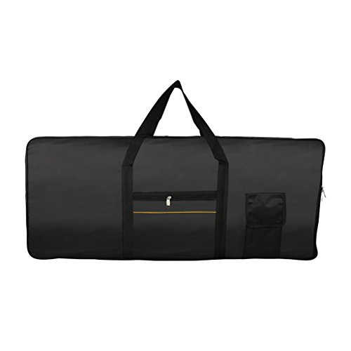 perfk Keyboard Tasche 61 Tasten Elektrisches Klavier Gepolstert Fall Tragbar Gig Bag Keyboard-Koffer, ca. 985 x 410 x 140 mm
