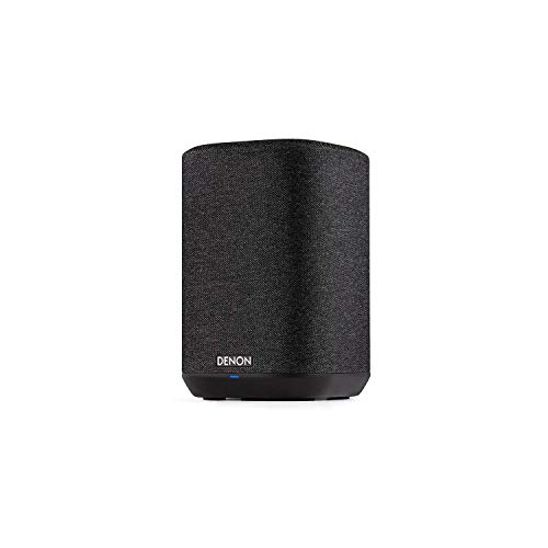 Denon Home 150 Wireless Speaker (2020 Model)   HEOS Built-in, AirPlay 2, and Bluetooth   Alexa Compatible   Compact Design   Black (Renewed)