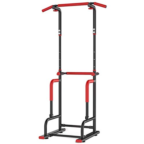 Pull Up Bars Einstellbare Multi Function Power Tower Klimmzugstationen Stehen Freistehendes Dip-Station Fitnessgeräte Krafttraining for Home Gym 260 Gewicht Kapazität (Size : A-4 Levels-Black)