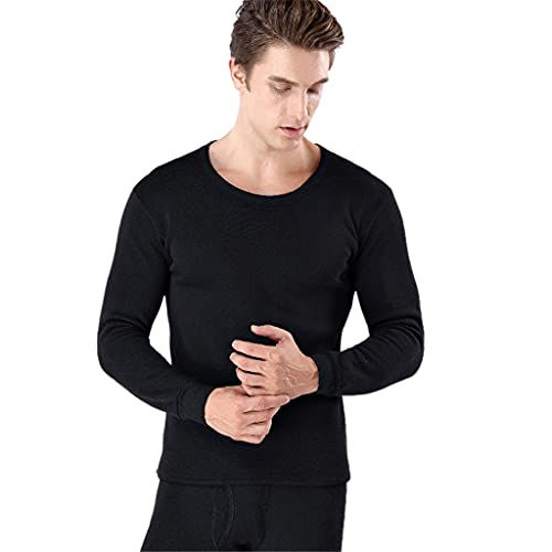 GELTDN Thermal Underwear Men Long Breathable Soft Indoor Casual Underwear Sets for Male Compression Clothing (Color : A, Size : XL Code)