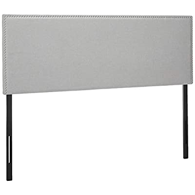 grey nailhead headboard