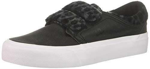 DC Women's Trase V TX SE Skate Shoe, Black/Leopard, 9.5 B M US