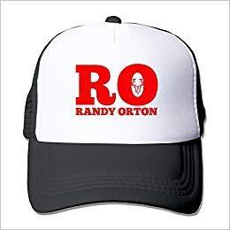 Kjfilo-Dier Handson Personalized Mesh Randy RO Orton Wrestler Logo Football Visor Cap Black Black