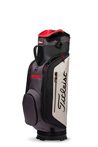 Titleist Club 7 Golf Cart Bag, Granite/Black