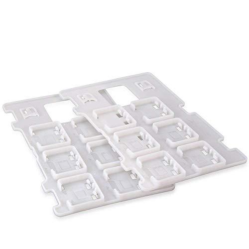 Invero 2 x Erweiterungskarten-Steckplätze Aufbewahrungsbox Reisehalter für Nintendo Switch – Speichern Sie bis zu 14 Spiele und 4 Micro-SD-Karten.
