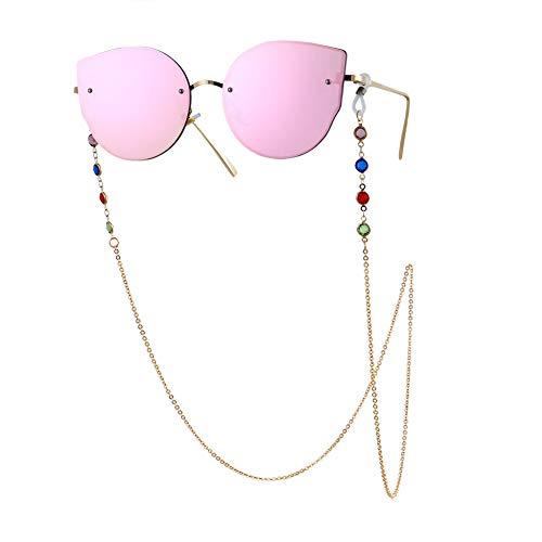MARITOWN Brillen Kette für Frauen Bunte Strass Anti-Rutsch-Brillen Schmuck Freisprecheinrichtung und leichte Halskette für Muttertagsgeschenk