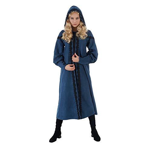 Chaks Abrigo de ciri para Mujer para Fans de Witcher 118cm Azul