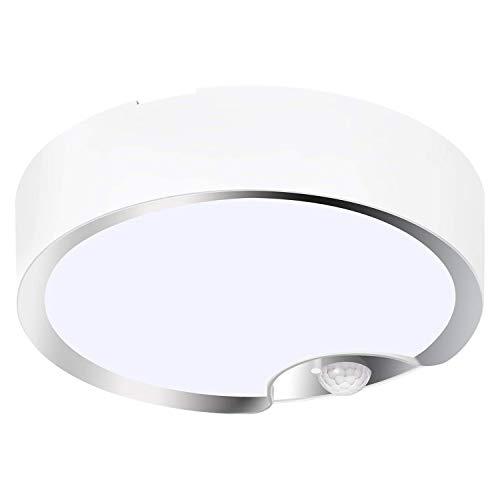 Bayda Luces de Techo con Sensor de Movimiento Luces de Techo LED para Interiores/Exteriores con Pilas para Corredor Cuarto de Lavado