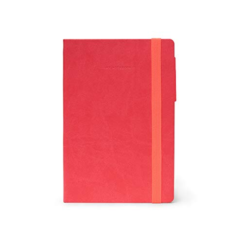 Legami MYNOT0117 Notizbuch Medium, kariert, Neon Coral