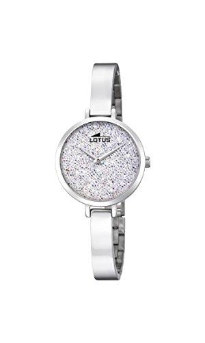 Lotus Watches Reloj Análogo clásico para Mujer de Cuarzo con Correa en Acero Inoxidable 18561/1