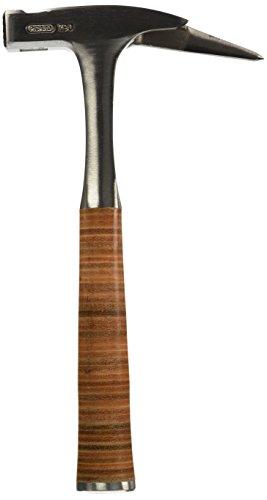 Picard Ganzstahl-Latthammer mit Ledergriff aus echtem Kernleder, magnetischer Nagelhalter, aus hochwertigem Vergütungsstahl gefertigt, geraute Fläche