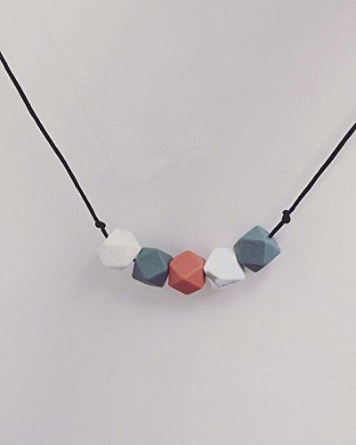 Cherish lewis- esagono di mamma collana perline in silicone Baby Teething (senza BPA e non tossico?