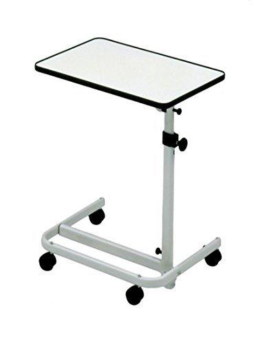 Home Care Beistell-Tisch Krankenbett, fahrbar mit 2 Feststellbremsen, stufenlos höhenverstellbar, Tischneigung