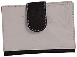 Women Fashion Cream Soft Genuine Leather Handbag Wallet Clutch Purse Card Holder