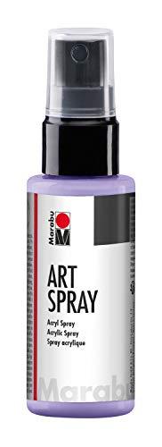 Marabu 12090005007 - Art Spray lavendel 50 ml, brillantes Acrylspray m. Pumpzerstäuber auf Wasserbasis, ideal z. Schablonieren auf Leinwand, Papier und Holz, schnell trocknend, lichtecht, wasserfest
