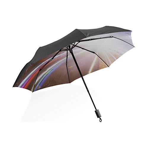 Paraguas Coche de Carreras invertido de Doble Capa En Pista de Carreras Coche Paraguas Plegable Compacto portátil Protección contra Rayos UV A Prueba de Viento Viajes al Aire Libre Mujeres Paraguas i