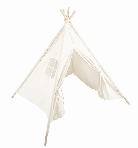 Sunneeキッズテントおもちゃテントハウス子供テント秘密基地組み立て簡単知育玩具おままごと遊び小屋(ウッドの長さ:136cm)