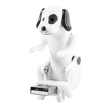 Mamum chien électronique USB mignon, drôle mignon lieu de jouet pour chien humping usb animal le soulagement du stress cadeau maison très jk One Size Blanc