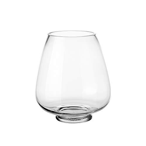 Jarrón Copa de Cristal Transparente de 21x16x16 cm - LOLAhome