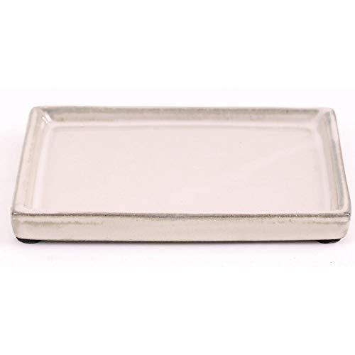 Bonsai 53360 Dessous de Verre carré Crème 15,5 x 11,5 cm