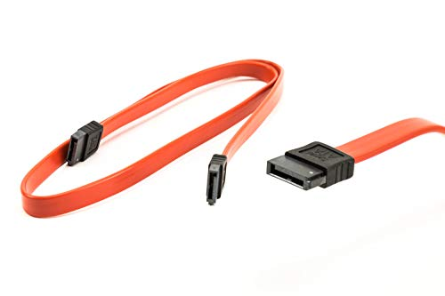 PC24 Shop & Service 2X SATA Kabel 57,50cm Rot | gerade-gerade | kompatibel bis zu S-ATA/600 | Serial ATA | 1,5GBs/3GBs/6GBs (abwärtskompatibel) | S-ATA Kabel | Premiumqualität