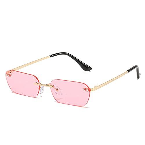 Gosunfly Gafas de sol elípticas femeninas gafas de sol de moda-Marco dorado negro gris