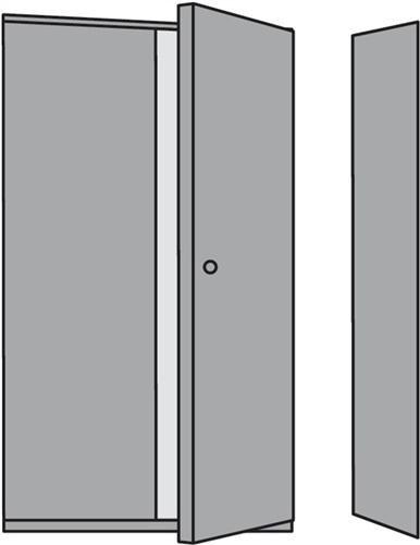 Zwischenwand H.2250xT.300mm f.seitlichen Türabschluß lichtgrau f.Steckregal