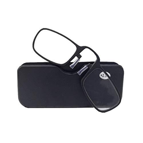 Mini Wallet Lesebrille Nasenclip Auf Presbyopic Brille Männer Und Frauen Männer Glasrahmen Schwarz Für Frauen Männer Lesen Einfach Zu Tragen +150 Schwarz