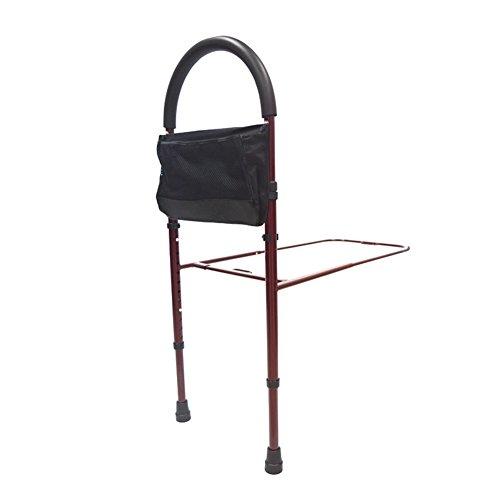 Antriebs-Medizinische Bett-Vorlagen-Stange Mit Aufbewahrungstasche, Höhenverstellbare Bett-Schiene Für Die Unterstützung, Die Herein Und Aus Bett Zu Hause Herauskommt,Red