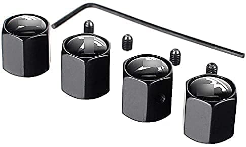 4 Piezas Tapas de Válvula de Neumáticos de Coche para Tesla Model S Model 3 X, Anti Polvo Resistente Agua Tapas para Válvulas Decoración Accesorio