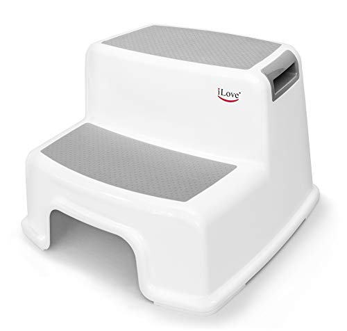 Wide+ 2 Step Stool for Kids | Toddler Stool for Toilet Potty...