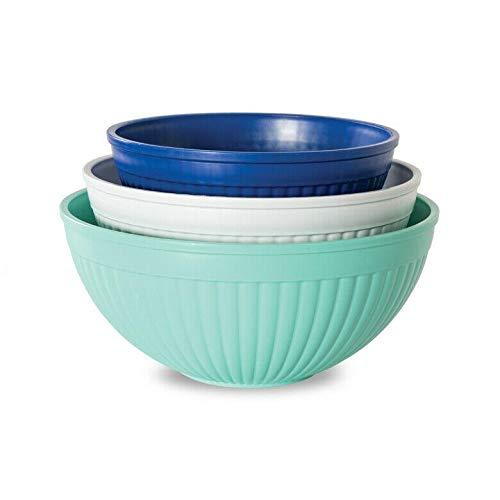 3 Piece Prep & Serve Mixing Bowl Set-Mixing bowls-Mixing bowls with lids set-Stainless metal mixing bowls-Bowls for kitchen-Mixing bowl-Mixing bowl set-Bowls with lids-Bowl set-Salad bowl with lid