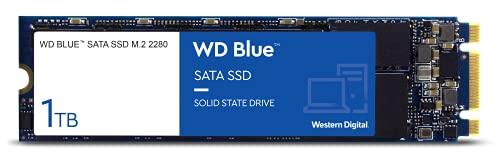 WD Blue SATA SSD M.2 2280 1 TB (interne SSD, hohe Zuverlässigkeit, Lesevorgänge bis zu 560 MB/s, Schreibvorgänge bis zu 530 MB/s, stoßsicher und WD F.I.T. Lab-zertifiziert)