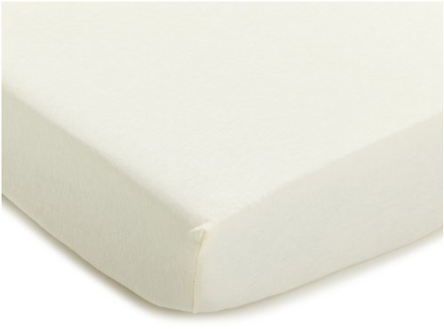 Julius Zöllner 8350013230 - Spannbetttuch Jersey für Stillbett, Größe: 50 x 100 cm, Farbe: ecru