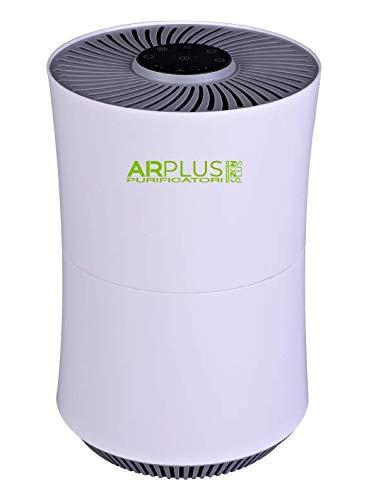 AIRPLUS By OZONPLUS Purificatore d'Aria Ionizzatore AIRP2106 per Ambienti fino a 20m2, Filtro HEPA + Carboni attivi, Timer, Sensore Qualità Aria, Modalità Auto/Manuale/Sleep