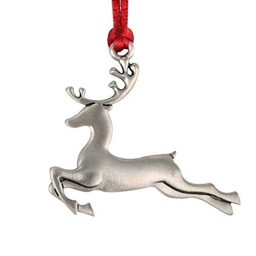 Topadorn Solid Pewter Christmas Ornaments and Holiday Decorative Hanging Ornaments for Seasonal Décor,Deer