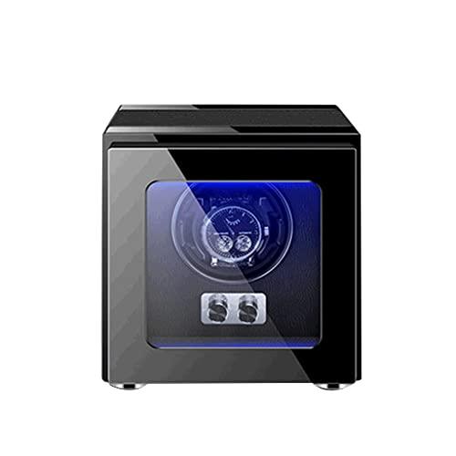 WRNM Cajas Giratorias para Relojes Ranuras con Retroiluminación LED Caja De Exhibición De Almacenamiento con Motor Silencioso