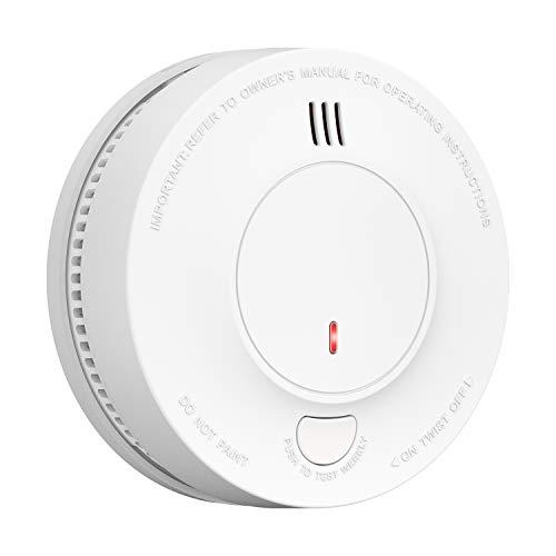 Smoke Alarm, AVANTEK 10-Year Battery Fire Alarm Smoke Alarm with Photoelectric Sensor and Silence Function, UL Certified, Easy Installation