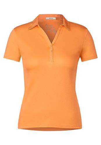 Cecil Damen Polo-Shirt in Unifarbe Cantaloupe orange L