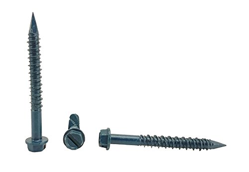 100 per Box CONFAST 1//4 x 2-1//4 Flat Phillips Concrete Screw Anchor with Drill Bit