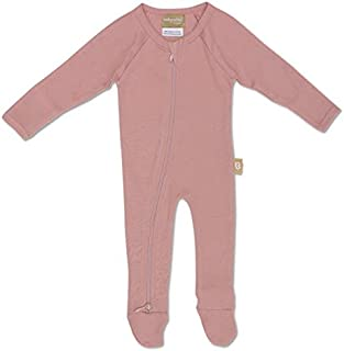 Babyushka Organic Long Sleeve Zip Jumpsuit, Mauve, 0000