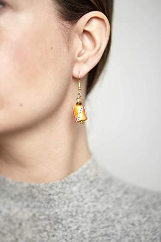 InciteStudio mustard glass bead earrings