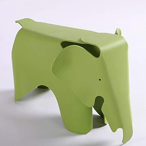 GWDJ Hocker, Hocker aus Kunststoff, Elefantenhocker für Kinder, Kindergartenhocker, Eltern-Kind-Hocker, Sofabank, für Schlafzimmer, Wohnzimmer, 7 Farben Verstärkte Fußstütze ( Farbe : Green )