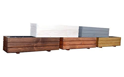 KENA D-6 Garden Holz Pflanzkasten Höchste Qualität Länge 60/90 cm (Länge 90 cm, Nuss)
