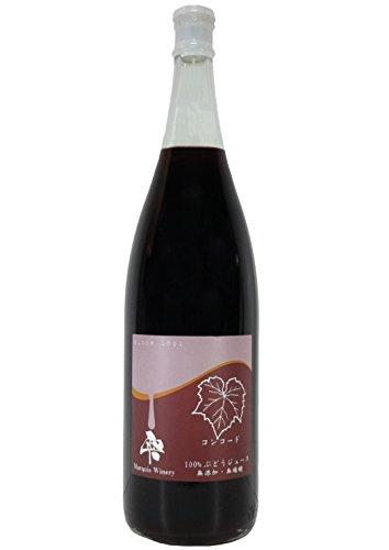 【まるき葡萄酒】雫 コンコード 100%ストレート果汁 赤 一升瓶(無添加 生ぶどう果汁搾り) 1800ml