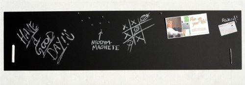 Große Pinnwand/Pinwand/Magnet-Tafel in 110 x 30 cm, mit 1x Kreide und 20 Stift - Magneten: Magnetpinnwand mit Tafelkreide-Oberfläche