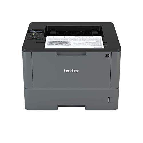 Brother HLL5100DN Stampante Laser Bianco e Nero, Velocità di Stampa 40 ppm, Stampa Fronte / Retro Automatica, Scheda di Rete Cablata (no WiFi)