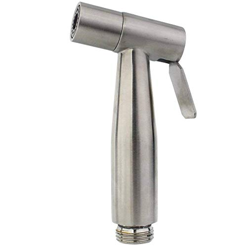 Ducha higiénica de mano de acero inoxidable Bidé portátil Asiento de inodoro Bidet Grifo de bidé de inodoro con espray de mano para el hogar, como se muestra