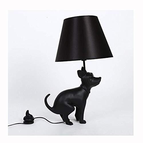 Creatieve Vloerlamp - Hars Doek Cover Grote Hond Vloerlamp Verlichting Woonkamer Hotel Club Art Zwarte Hond Tafellamp (Kleur : Tafellamp)